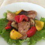 鶏のカポナータ風サラダ